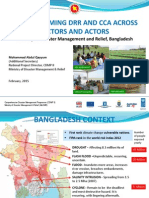 Mainstreaming DRR and CCA Across Sectors and Actors