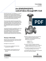 GLobe valve Fisher EW series