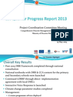 CDMP-1st Quarter Progress Report 2013