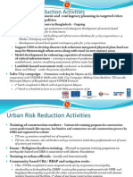 Urban Risk Reduction Activities
