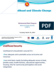 Secured Livelihood and Climate Change