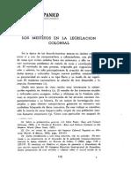 Konetzke - Los Mestizos en La Legislacion Colonial