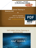 Sap Hana Online Training in Bangalore&Hyderbad