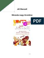Jill Mansell _ Miranda Nagy Tévedese