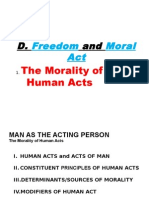 Freedom and Moral Act