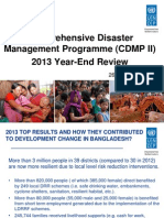Comprehensive Disaster Management Programme (CDMP II) 2013 Year-End Review