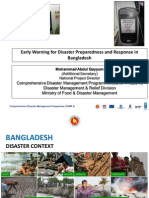 Early Warning for Disaster Preparedness and Response in Bangladesh