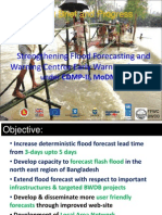 Strengthening Flood Forecasting and Warning Centres Early Warning Capacity under CDMP-II, MoDM&R
