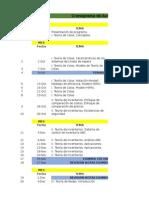 Cronograma de Actividades Gerencia de Operaciones II