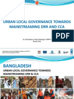 URBAN LOCAL GOVERNANCE TOWARDS MAINSTREAMING DRR AND CCA