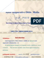 - Acute Suppurative Otitis Media