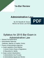 Admin_2015 Pre Bar Lectures