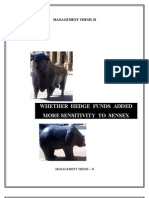 Whether Hedge Funds added more Sensitivity to Sensex? (Using Granger Causality test)