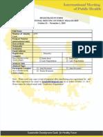 Registration Form IMOPH 2015