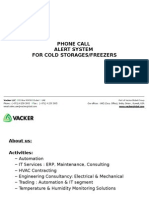 Phone Call System Alert for Cold Storages / Freezers