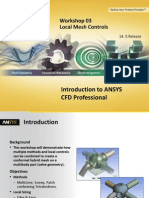 CFD Pro 14.5 WS03 Local Mesh Controls