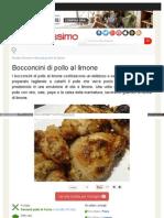 Www Buonissimo Org ricetta Bocconcini Di Pollo Al Limone