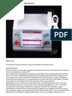 Professional Fractional Rf Radio Frequency Dot Matrix Photothermal Spa
