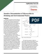 HPLC Microcystins Water
