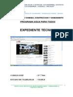 Memoria Descriptiva Agua Desague Cochabamba