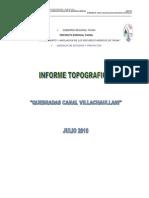 Informe Topografico Quebradas Villachaullani