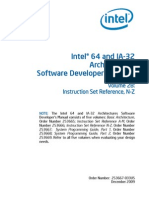 I64 and IA32 Architecture Software Developers Manual Vol 2B