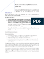 Indian Institute of Public Administration (IIPA) Recruitment 2015-2016 for Registrar Post