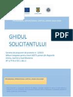 """Ghidul Solicitantului Conditii Specifice Masuri integrate pentru tinerii NEETs someri din Regiunile Centru, Sud-Est si Sud-Muntenia, Axa Prioritara 1 - Initiativa """"Locuri de munca pentru tineri"""" 05.10.2015"""