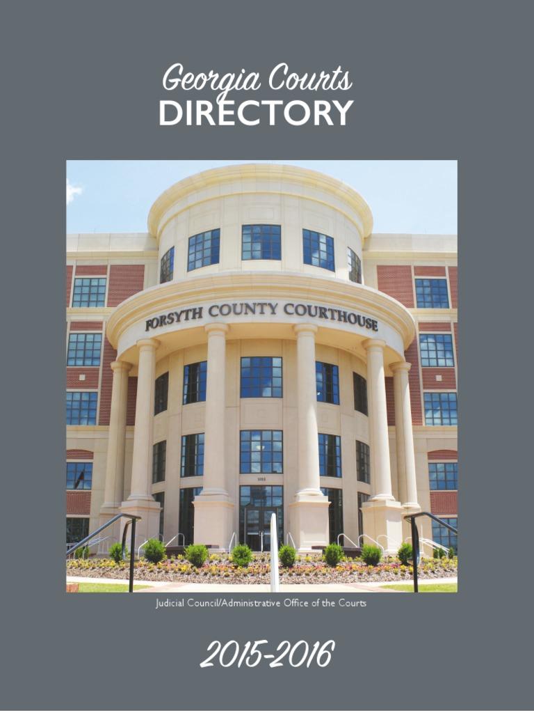 GA Courts Directory 2015 2016