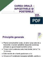 Curs 7 - Comunicarea Orală - Diapozitivele Şi Posterele