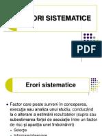 Curs 3 - Erori Sistematice