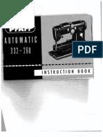carte masina cusut Pfaff 230-260-332