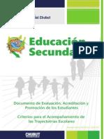 Documento de Evaluación, Acreditación y Promoción de los Estudiantes - Provincia del Chubut