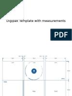 Digipak Template With Measurements