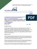 Corporate Social Responsibility 2013