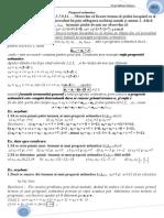 Progresii aritmetice
