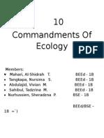 10 Commandments of Ecology