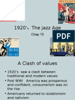 1920's  the jazz age
