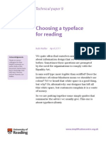 Typeface for Reading