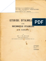 Dr.I.Glăvan-Istoricul Oftalmologiei, 1939