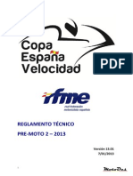 2013 Tecnico Pre-moto 2 Copa España