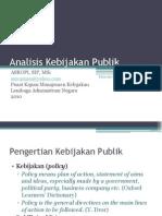 Analisis Kebijakan Publik Bahan Ajar Diklatpim