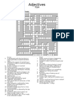 Adjectives Pre Fix Crossword