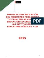 protocolo tutoria