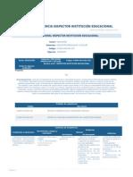 Perfil Competencia Inspector Institucion Educacional