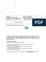 Quimica Organica Prueba de Sintesis 2015