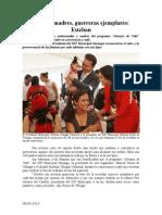 08.05.2014 Comunicado Jóvenes Madres, Guerreras Ejemplares Esteban