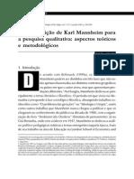 Metodologia em Mannheim.