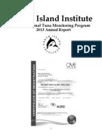 2013 Monitor Report Dolphin Safe Tuna