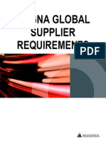 Magna Global Supplier Requirements 04-04-14
